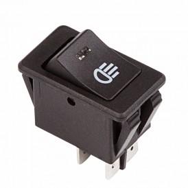 Выключатель клавишный 12V 35А (4с) ON-OFF  с синей LED подсветкой  REXANT