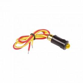 Индикатор Ø8 12В с проводом желтый LED  REXANT