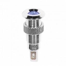 Индикатор металл Ø8 220В подсв/синяя LED  REXANT