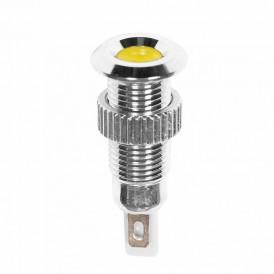 Индикатор металл Ø8 220В подсв/желтая LED  REXANT