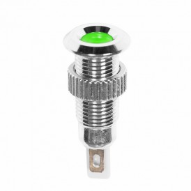 Индикатор металл Ø8 220В подсв/зеленая LED  REXANT