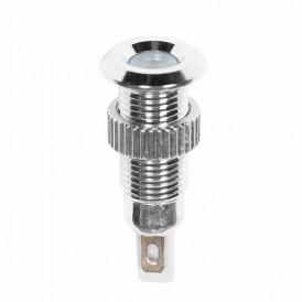 Индикатор металл Ø8 220В подсв/белая LED  REXANT