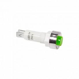 Индикатор c ОТРАЖАТЕЛЕМ  Ø10  220V  зеленый  REXANT
