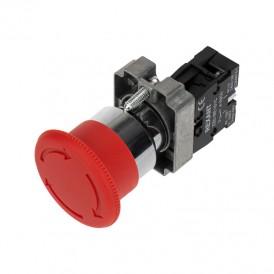 Кнопка XB2-BS поворотная красная грибок NC REXANT