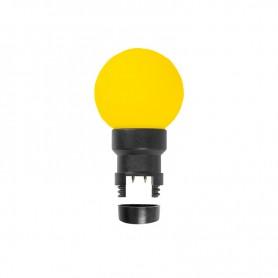 Лампа шар 6 LED для белт-лайта, цвет: Жёлтый, Ø45мм, жёлтая колба