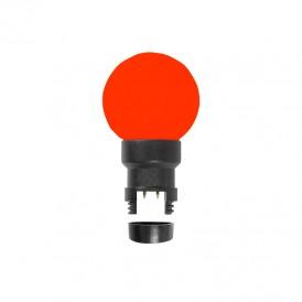 Лампа шар 6 LED для белт-лайта, цвет: Красный, Ø45мм, Красная колба