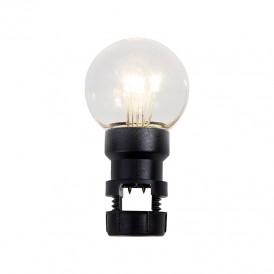 Лампа шар 6 LED вместе с патроном для белт-лайта, цвет: Тёплый белый, Ø45мм, прозрачная колба