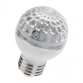 Лампа шар e27 10 LED  Ø50мм  зеленая 24В (постоянное напряжение)
