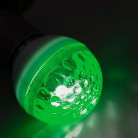 Лампа строб e27 Ø50мм  зеленая