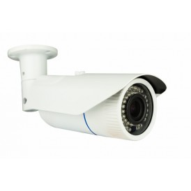 Цилиндрическая уличная камера IP 2.1Мп Full HD  (1080P), объектив 2.8-12 мм., ИК до 40 м., 12В/PoE