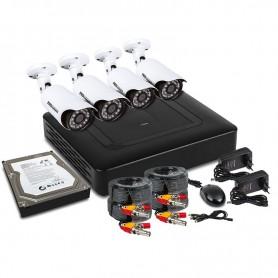Комплект видеонаблюдения PROconnect, 4 наружные FullHD камеры, с HDD 1Tб