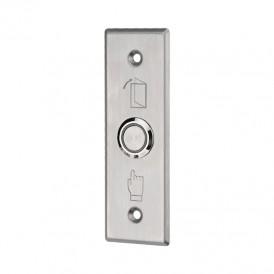 Кнопка «Выход» металлическая с синей подсветкой SB-60 врезного типа