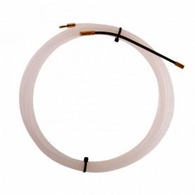 Протяжка кабельная REXANT (мини УЗК в бухте),  5 м нейлон,  d=3 мм,  латунный наконечник,  заглушка