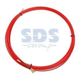 Протяжка кабельная (мини УЗК в бухте), стеклопруток, d=3,5мм, 7м КРАСНАЯ
