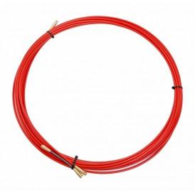 Протяжка кабельная (мини УЗК в бухте), стеклопруток, d=3,5мм, 10м КРАСНАЯ