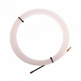 Протяжка кабельная REXANT (мини УЗК в бухте),  15 м нейлон,  d=3 мм,  латунный наконечник,  заглушка