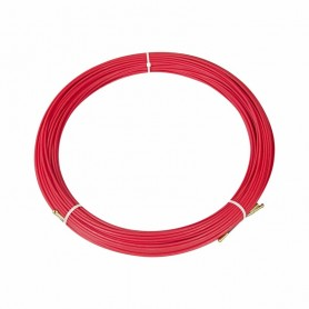 Протяжка кабельная (мини УЗК в бухте), стеклопруток, d=3,5мм, 70м КРАСНАЯ