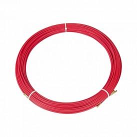 Протяжка кабельная (мини УЗК в бухте), стеклопруток, d=3,5мм, 100м КРАСНАЯ