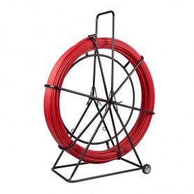 Протяжка кабельная (УЗК в тележке), стеклопруток d=11,0 мм, 100 м красная