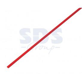 Термоусаживаемая трубка REXANT 4,0/2,0 мм, красная (бухта 200 м)