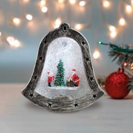 Декоративный светильник «Колокольчик» с эффектом снегопада NEON-NIGHT