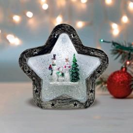 Декоративный светильник «Звезда» с эффектом снегопада NEON-NIGHT