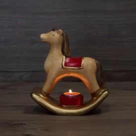 Керамический подсвечник «Лошадка» 18.2х7.2х19.3 см