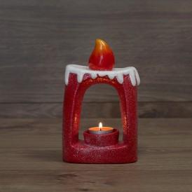 Керамический подсвечник «Свечка» 12.5х6х19.3 см