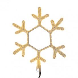 "Фигура ""Снежинка"" цвет ТЕПЛЫЙ БЕЛЫЙ, размер 45*38 см    501-212   NEON-NIGHT"