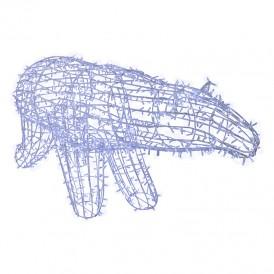 Фигура объемная «Полярный медведь» 210х10 см, 1500 LED, IP65, цвет свечения белый NEON-NIGHT