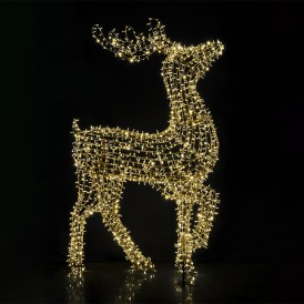 Фигура объемная «Северный олень» 300х200 см, 3000 LED, IP65, цвет свечения теплый белый NEON-NIGHT