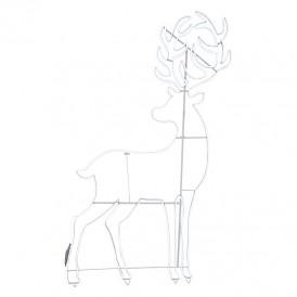 Фигура световая «Сказочный олень» из гибкого неона, 180х110 см, 2400 LED, цвет свечения белый NEON-NIGHT
