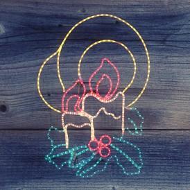 """Фигура """"Две свечи"""", размер 100*75 см   501-320   NEON-NIGHT"""