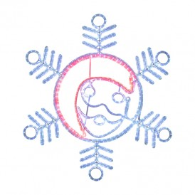 "Фигура ""Снежинка с Дедом Морозом"" размер 107*95см, 14м дюралайт | 501-339| NEON-NIGHT"