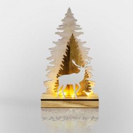 Деревянная фигурка с подсветкой
