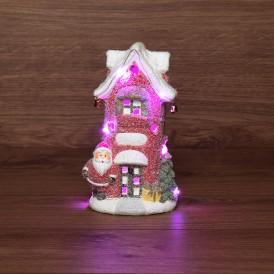 Керамическая фигурка «Красный домик» 11.5х8.5х20.4 см