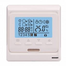 Терморегулятор с дисплеем и автоматическим программированием REXANT, R51XT