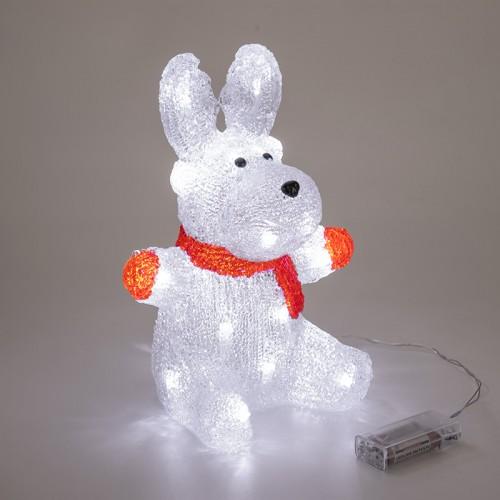 Акриловая светодиодная фигура «Олененок в шарфе» 20х17х30 см, 24 светодиода, батарейки 2хAA (не входят в комплект) NEON-NIGHT