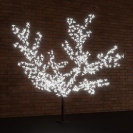 """Светодиодное дерево """"Сакура"""", высота 3,6м, диаметр кроны 3,0м, белые светодиоды, IP65 Neon-night 531-235"""