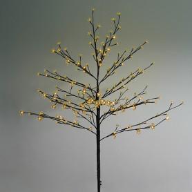 """Дерево комнатное """"Сакура"""", коричневый цвет ствола и веток, высота 1.2 метра, 80 светодиодов желтого цвета Neon-night 531-241"""