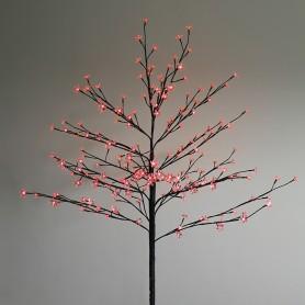 """Дерево комнатное """"Сакура"""", коричневый цвет ствола и веток, высота 1.2 метра, 80 светодиодов красного цвета Neon-night 531-242"""