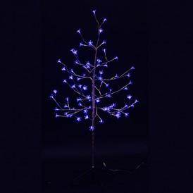 "Дерево комнатное ""Сакура"", ствол и ветки фольга, высота 1.2 метра, 80 светодиодов синего цвета Neon-night 531-253"
