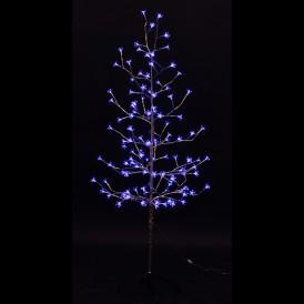 "Дерево комнатное ""Сакура"", ствол и ветки фольга, высота 1.5 метра, 120 светодиодов синего цвета Neon-night 531-273"