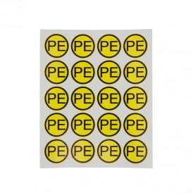 Наклейка знак электробезопасности «PE» d - 20 мм REXANT (20 шт на листе)