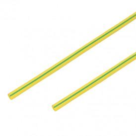 Термоусадочная трубка 2,0/1,0 мм, желто-зеленая, упаковка 50 шт. по 1 м PROconnect