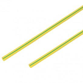 Термоусадочная трубка 4,0/2,0 мм, желто-зеленая, упаковка 50 шт. по 1 м PROconnect