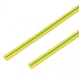 Термоусадочная трубка 6,0/3,0 мм, желто-зеленая, упаковка 50 шт. по 1 м PROconnect