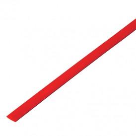 Термоусадочная трубка 8,0/4,0 мм, красная, упаковка 50 шт. по 1 м PROconnect
