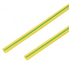 Термоусадочная трубка 8,0/4,0 мм, желто-зеленая, упаковка 50 шт. по 1 м PROconnect