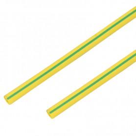 Термоусадочная трубка 10/5,0 мм, желто-зеленая, упаковка 50 шт. по 1 м PROconnect